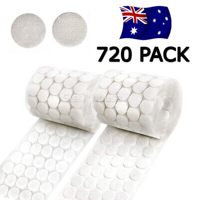 720 Pack Hook and Loop Sticky Dots Coins Tapes Circles Lightweight White OZ