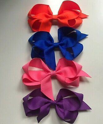 Boutique Hair Bows 5 Inch (Set Of 4)