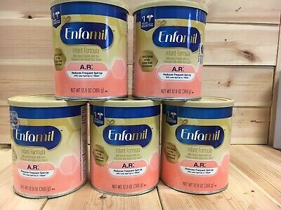 "5 cans - Enfamil AR Infant Baby Formula 12.9oz each. ""Reduces spit up"" Exp. 2/20"