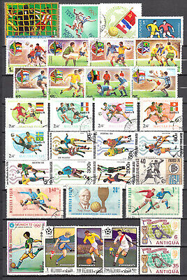 LOT 24. PAGE of FOOTBALL Stamps ALL DIFFERENT