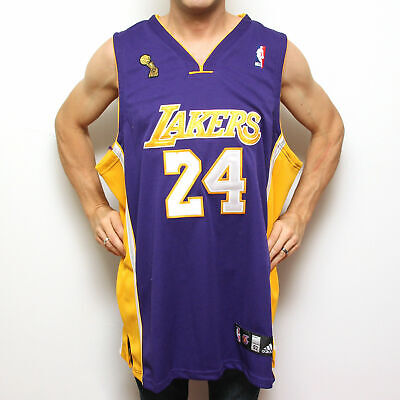 differently 68b9f a120d KOBE BRYANT LAKERS Jersey 24 Purple Authentic NBA Adidas Sz 52*