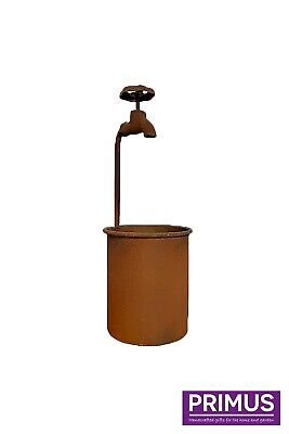 Water Tap Metal Garden Flower Planter - Rust - Fast & Free Delivery  D15