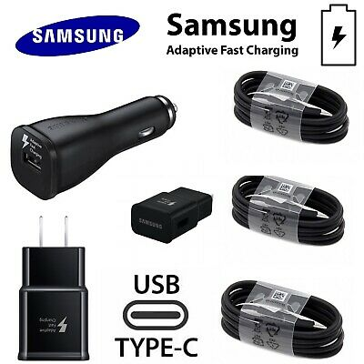 Samsung Galaxy S8 S9 Plus S10 Charger Cable Original OEM Type C Fast USB Wall