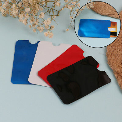 10pcs colorful RFID credit ID card holder blocking protector case shield cove W0