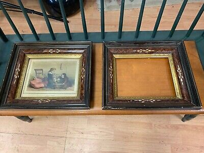 Pair of Deep Victorian Eastlake Carved Gilt Sight Picture Frames 8 x 10