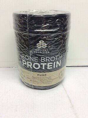 Dr. Axe Ancient Nutrition, Bone Broth Protein, Pure 15.9 oz (.89 lb / 450 g)
