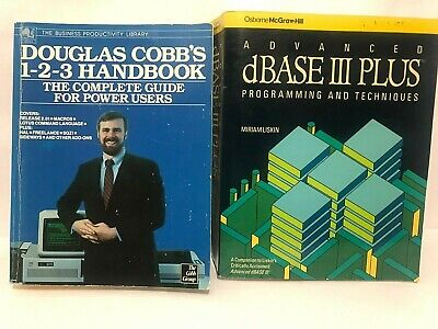Vintage Lot of 2x Computer Software Textbooks Programming Business Productivity