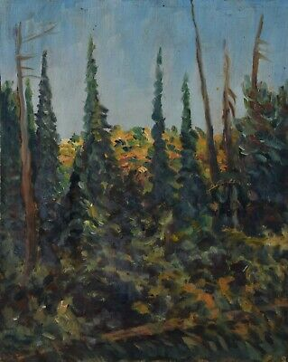 ARTHUR CHECKLEY Oil Painting Forest Canadian Listed Impressionist 1984-1964