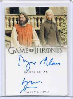 2019 Game of Thrones Inflexions Auto ROGER ALLAM/HARRY LLOYD Dual AUTOGRAPH