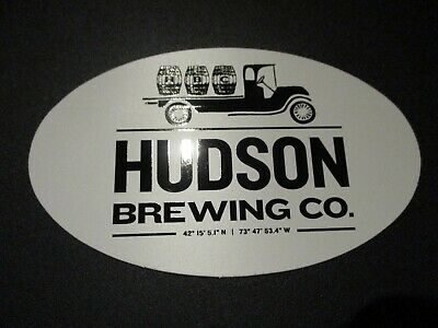 HUDSON BREWING COMPANY New York truck STICKER decal craft beer brewery