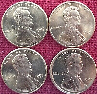 1997 P -  Lincoln Memorial Cent - BU - Lot Of Four