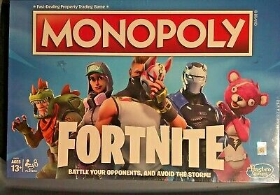 MONOPOLY Fortnite Edition Board Game Original New Sealed Free Shipping