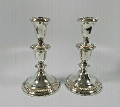 Antique Sterling Silver Candle Sticks with Extensions