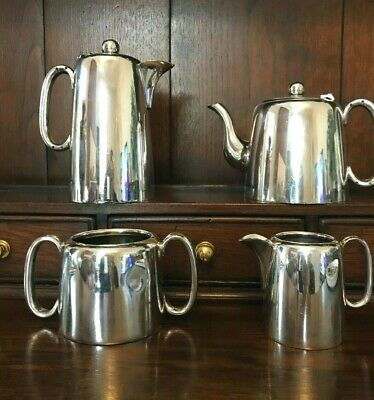 Art Deco Vintage Sheffield Silver Plated Coffee and Tea Set