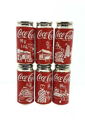 Coles Little Shop Mini Collectables - Set of 6 Special Collectable Coke Cans