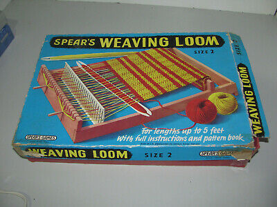 Vintage Spears England 1960s Size 2 Weaving Loom With Pattern Book As Shown