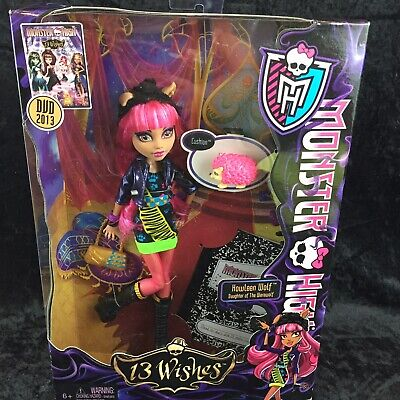 MONSTER HIGH Doll 13 Wishes Howleen Wolf Doll NEW NRFB SEALED