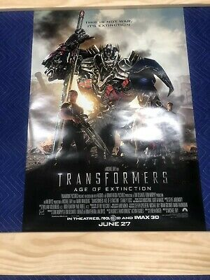 "Transformers: Age of Extinction 2014 DS Original Movie Poster 27"" x 40"""