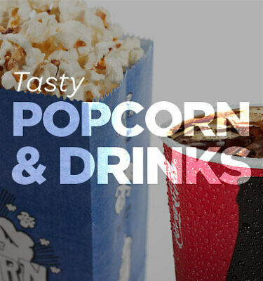 Cineworld Cinema 2 Large Drinks and 1 Large Popcorn - INSTANT EMAIL DELIVERY