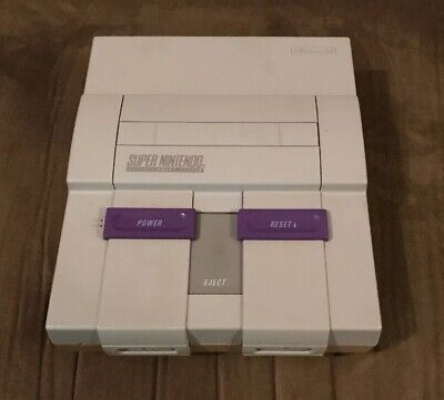 Official Super Nintendo SNES Console Only! ~ Works Great! ~ Fast Shipping! ~LQQK