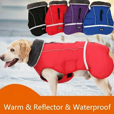 Winter Pet Waterproof Jacket Coat Reflective Small Large Dog Outwear Clothes New