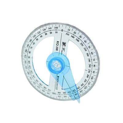 2Pcs 360 Degree Poratable Circle Pointer Protractor Measurement Tool Office Tool