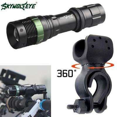 12000LM XML T6 LED Zoomable Flashlight Cycling Bike Bicycle 360°Mount Torch