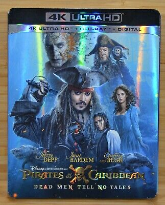 PIRATES OF THE CARIBBEAN Dead Men Tell No Tales 4K Blu-ray Slipcover (NO MOVIE)