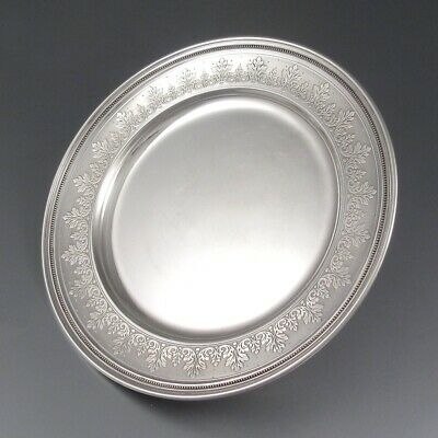 AntiqueFrench Sterling Silver Dish Plate, Doutre-Roussel, Master Silversmith