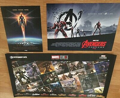 2019 AVENGERS ENDGAME IMAX movie PRINT + MCU 10 Year ANNIVERSARY Marvel POSTER