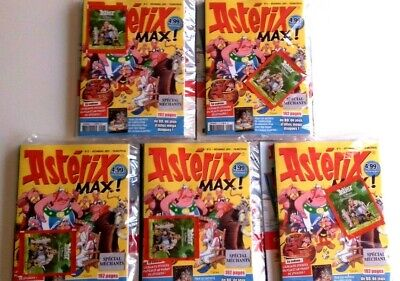 Lot 5 BD ASTERIX MAX ! 192Pages Magazine Revendeur Destockage