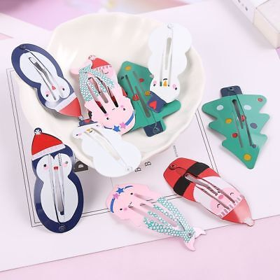 1Pair Mermaid BB Hairs Clips Xmas Santa Claus Hairpins Children Girls Headwears