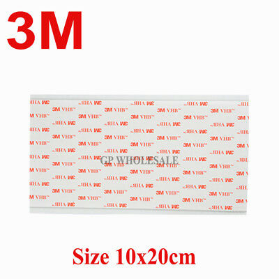 3M VHB 4910 200mm x 100mm Double Sided Acrylic Foam Adhesive Sheet CLEAR Best