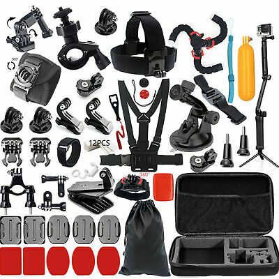 Kit Accessori Action Cam, per Gopro Go Pro Hero 7 2018 6 5 4 3 2 1 Session 5 Bla