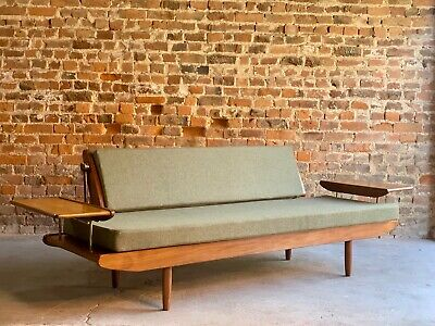 Mid Century Toothill 'Wentworth' Afromosia Teak Sofa Daybed Settee circa 1960