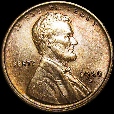 1920-S Lincoln Cent Wheat Penny ---- GEM BU++ ----  #I859