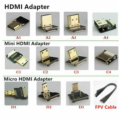 FPV Micro Mini HDMI Angled Adapter Male Female Connector FPC Ribbon Flat Cable