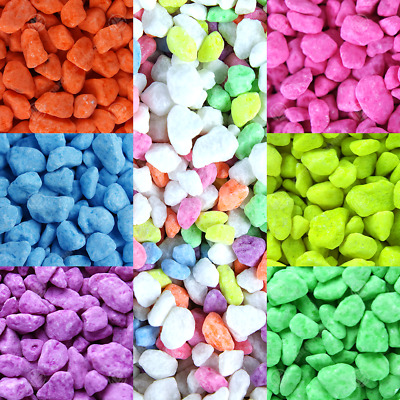 GardenersDream Fluorescent Aquatic Gravel - Decorative Aquarium Fish Tank Stones