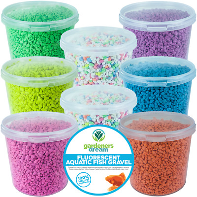 GardenersDream Fluorescent Aquatic Gravel - Premium Aquarium Fish Tank Stones