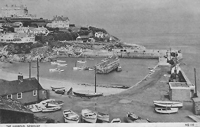 Postcard showing The Harbour, Newquay, Cornwall.
