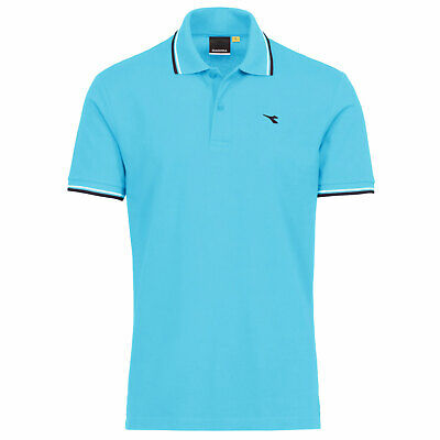 Diadora Polo Piquet Uomo con Bordino Atol Blue