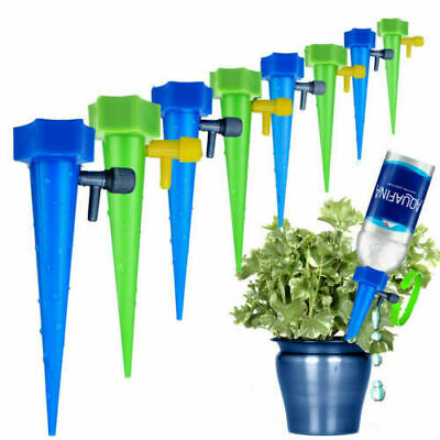 Plant Water Funnel Flower Drip Spikes Automatically Watering (1/6 12 Pcs )