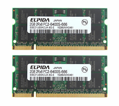 2GB PC2-6400S For ELPIDA DDR2 800MHz RAM Laptop Memory PC6400 200PIN SO-DIMM RY4