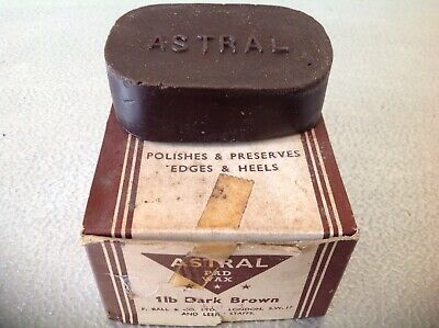 Shoe Wax Polish Dark Brown Astral used in shoe repairs for heels & edges  ref1