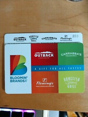$50 Bloomin Brands Gift Card (Outback, Carrabba's, Bonefish Grill)