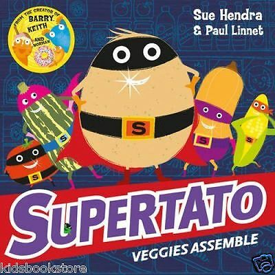 Preschool Story Book - SUPERTATO VEGGIES ASSEMBLE by Sue Hendra - NEW