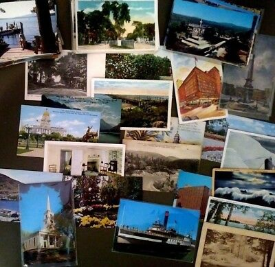 Vintage lot of postcards ~ 50 Random from 1910s to 70s - US Landmarks, Cities