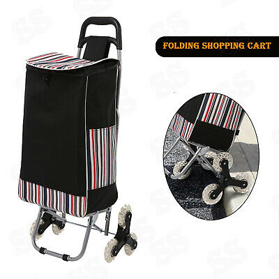 NEW Trolley Dolly Black Shopping Grocery Foldable Cart FREE2DAYSHIP TAXFREE