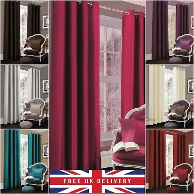 Thermal Blackout Curtains Ready Made Eyelet Curtains - Dimeout Energy Saving