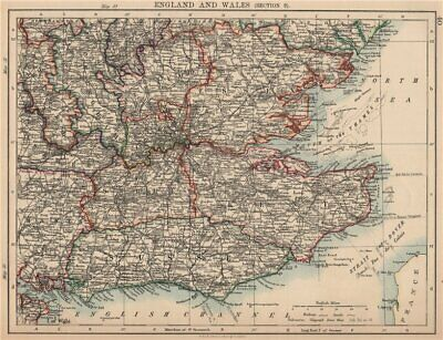 SOUTH EAST ENGLAND. Home counties London Kent Essex Sussex Surrey 1906 old map